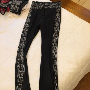 Dolls kill sheer diamond rave pants